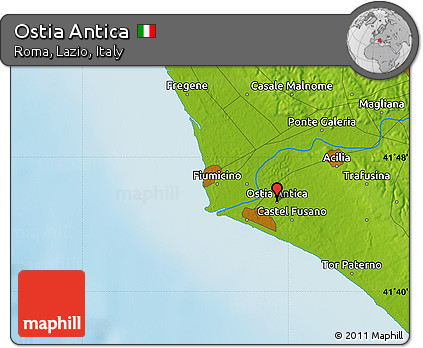 Free Physical Map Of Ostia Antica