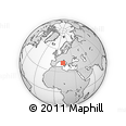 """Outline Map of the Area around 41° 43' 14"""" N, 11° 58' 29"""" E, rectangular outline"""