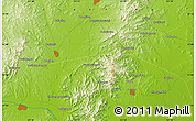 """Physical Map of the area around 41°43'14""""N,121°37'30""""E"""