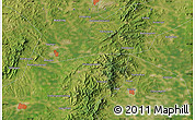 "Satellite Map of the area around 41°43'14""N,121°37'30""E"
