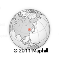 """Outline Map of the Area around 41° 43' 14"""" N, 121° 37' 30"""" E, rectangular outline"""