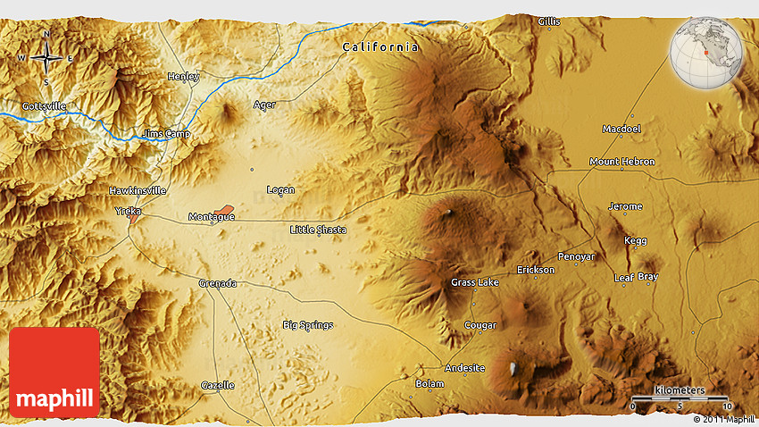 Physical 3D Map of Mount Hebron