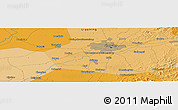 """Political Panoramic Map of the area around 41°43'14""""N,123°19'29""""E"""