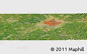 "Satellite Panoramic Map of the area around 41°43'14""N,123°19'29""E"
