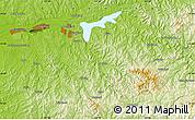 Physical Map of Fushun