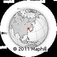 Outline Map of Fushun, rectangular outline