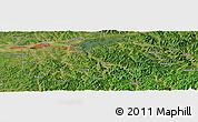 Satellite Panoramic Map of Fushun