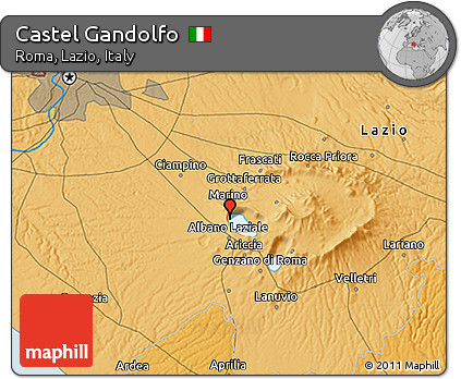 Free political 3d map of castel gandolfo - Castel gandolfo map ...