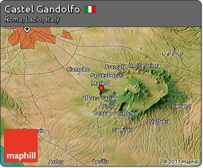 Free satellite 3d map of castel gandolfo - Castel gandolfo map ...