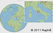 Savanna Style Location Map of Rome
