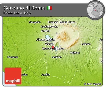 Free Physical Map of Genzano Di Roma