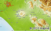 """Physical Map of the area around 41°43'14""""N,12°49'29""""E"""