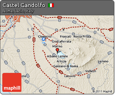 Free shaded relief map of castel gandolfo - Castel gandolfo map ...