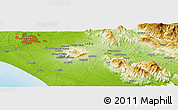 """Physical Panoramic Map of the area around 41°43'14""""N,12°49'29""""E"""
