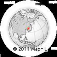 Outline Map of Ch'ŏngjin, rectangular outline