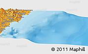 Political Panoramic Map of Ch'ŏngjin