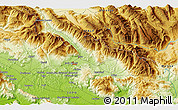 """Physical 3D Map of the area around 41°43'14""""N,13°40'30""""E"""