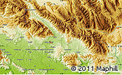 """Physical Map of the area around 41°43'14""""N,13°40'30""""E"""
