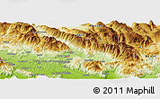 """Physical Panoramic Map of the area around 41°43'14""""N,13°40'30""""E"""