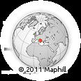 Outline Map of Via Pietransieri, rectangular outline