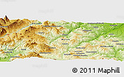 Physical Panoramic Map of Campobasso