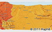 Political 3D Map of San Marco la Catola