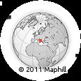 Outline Map of Manfredonia, rectangular outline