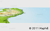 """Physical Panoramic Map of the area around 41°43'14""""N,16°13'30""""E"""