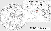 """Blank Location Map of the area around 41°43'14""""N,17°4'30""""E"""