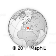 """Outline Map of the Area around 41° 43' 14"""" N, 17° 4' 30"""" E, rectangular outline"""