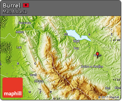 Physical Map of Burrel