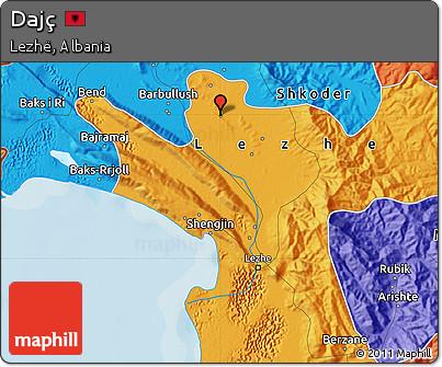 Political Map of Dajç