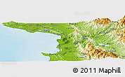 Physical Panoramic Map of Daul