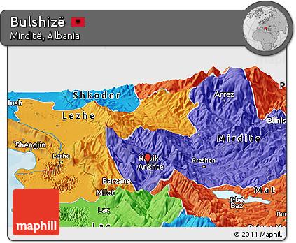 Political Panoramic Map of Bulshizë