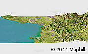 Satellite Panoramic Map of Daul