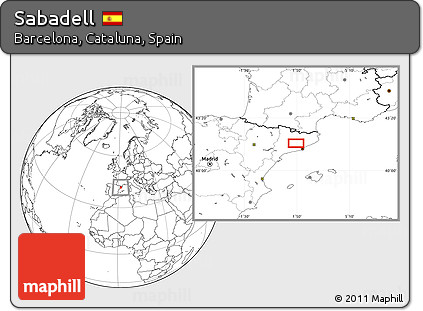 Blank Location Map of Sabadell