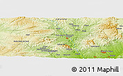 Physical Panoramic Map of La Pobla de Claramunt