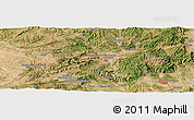 Satellite Panoramic Map of Cardona