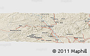 Shaded Relief Panoramic Map of Cardona