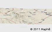 Shaded Relief Panoramic Map of Gallur