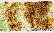 Physical 3D Map of Dohoshisht