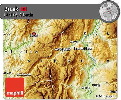 Physical Map of Bisak