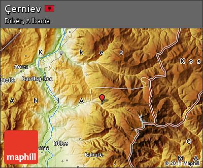Physical Map of Çerniev