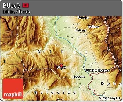 Physical Map of Bllacë
