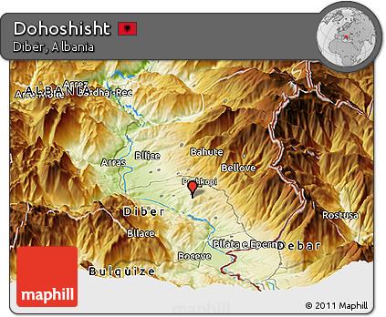 Physical Panoramic Map of Dohoshisht