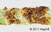 Physical Panoramic Map of Cërujë