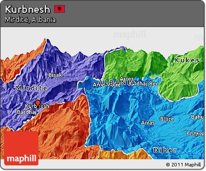 Political Panoramic Map of Kurbnesh