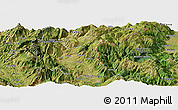 Satellite Panoramic Map of Bresti i Epërm