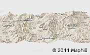Shaded Relief Panoramic Map of Çerenec i Epërm