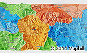"""Political 3D Map of the area around 41°43'14""""N,21°19'30""""E"""
